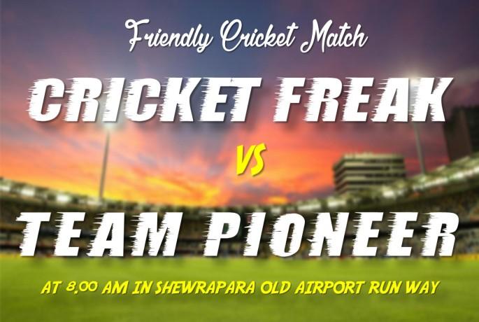 Cricket Freak vs Team Pioneer